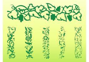 Retro Floral Borders