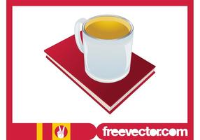 Tea And Book Vector