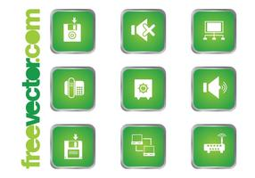 Grüne Technologie Icons
