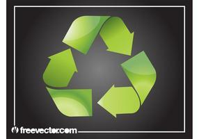 Shiny Recycling Symbol