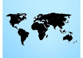 Världskart vektorgrafik