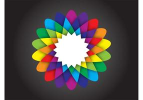 Rainbow Flower Blossom