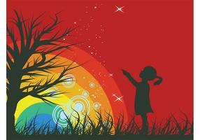 Gráficos de fundo do arco-íris
