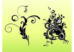 Weinlese-Blumenrollen