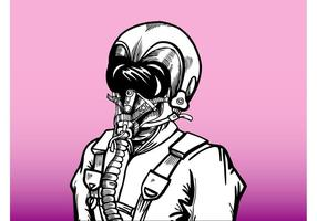 Man Met Gasmasker