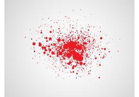Graphiques splatter sanguine