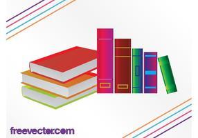 Kleurrijke boekengrafieken