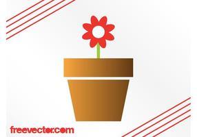 Graphiques de fleurs en pot