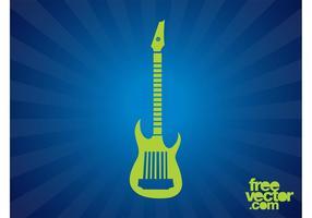 Silhouette de la guitare électrique
