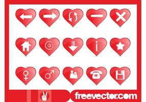 Heart Shaped Icons