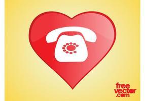 Icono del teléfono del corazón