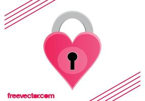 Heart Padlock Graphics