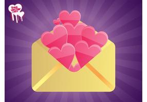 Umschlag mit Herzen