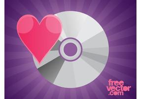 CD mit Herz