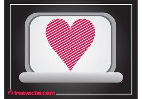 Laptop con el corazón