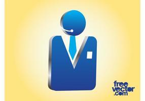 Icono de hombre de negocios 3D