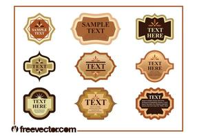 Vintage Product Labels Set