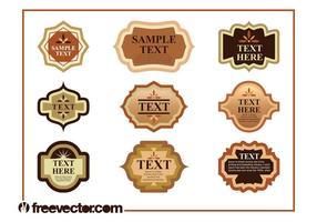 Conjunto de etiquetas de producto vintage