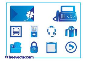 Icons Set Vektorgrafiken