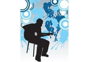 Het Poster van de Speler van de gitaar