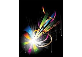 Färgrik affischmall