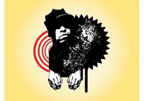 Grunge-Mann-Porträt