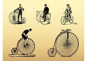 Vintage Fahrräder gesetzt