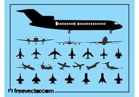 Aircraft Silhouette Set