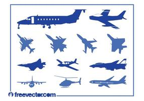 Aircraft-silhouettes-vector