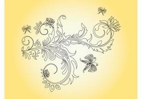 Flower And Butterflies Graphics