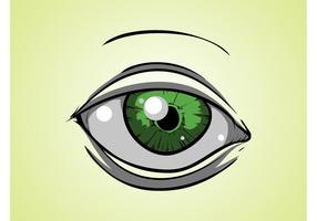 Green Cartoon Eye