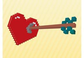 Coração 3D Pixelado