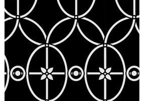 Vintage blommönster grafik