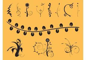 Swirls And Flowers Set