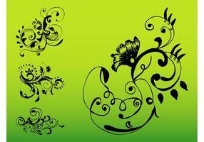 Wirbelnde Blumendekorationen Set