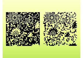 Dekorative Blumenfliesen