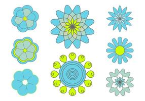 Ensemble d'icônes de fleurs