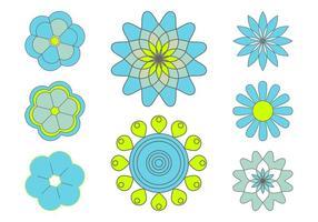 Blomma ikoner Set