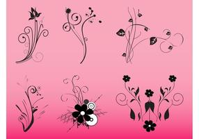 Graphiques de fleurs décoratives