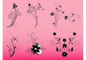 Dekorativa blommor grafik