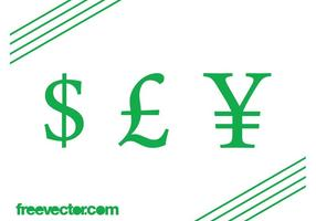 Currency-symbols-vector