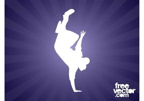 Breakdancer silhouet