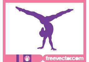 Flexible Girl Silhouette