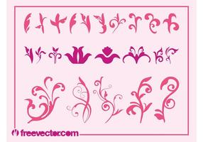 Pink-flowers-graphics-set