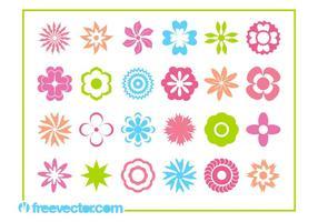 Blom blommar ikoner