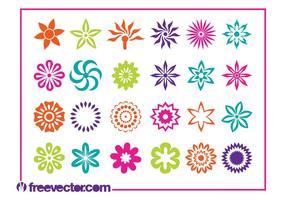 Ensemble d'icônes de fleurs en fleurs