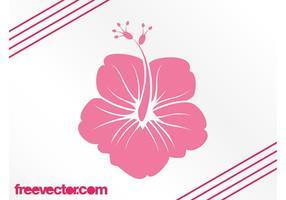 Hawaiisk blommesilhouette