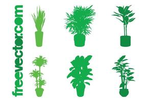 Potted Plant Silhouettes Set