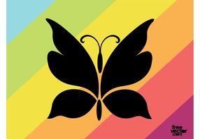 Ilustrações de butterfly silhouette