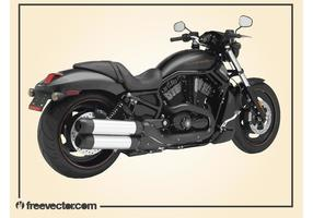 Black Harley Davidson Motorcycle vector